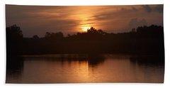 Sunrise On The Bayou Beach Sheet by John Glass