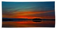 Sunrise Onset Pier Beach Towel