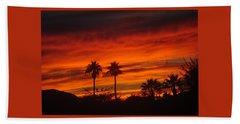Sunrise Over Palm Desert Beach Towel by Jay Milo