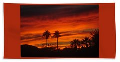 Sunrise Over Palm Desert Beach Sheet by Jay Milo