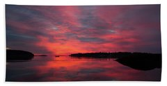 Sunrise Reflection Beach Towel