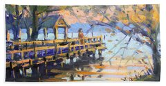 Sunset At Fishermans Park Beach Towel