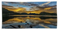 Sunset At Summit Cove Beach Towel by Stephen Johnson