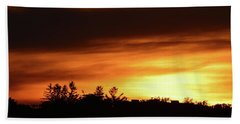 Sunset Behind The Clouds  Beach Towel