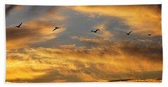 Sunset Flight Beach Towel