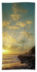 Beach Towel featuring the photograph Sunset In The Coast by Carlos Caetano