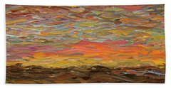 Sunset Beach Towel by James W Johnson