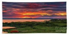 Sunset Lake Myvatn Beach Towel