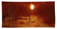 Sunset On The Bay Beach Sheet by Andrea Kollo