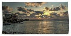 Sunset Over The Mediterranean Beach Towel