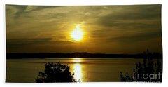 Sunset Over The Potomac Beach Towel