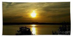 Sunset Over The Potomac Beach Sheet