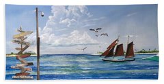 Schooner Jolly II Key West Florida Beach Towel