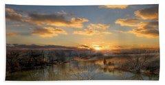 Sunset Reflections Beach Sheet
