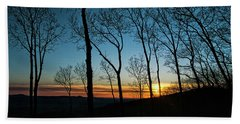 Sunset Trees Beach Towel