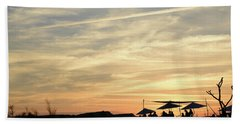 Beach Towel featuring the photograph Sunset View by Arik Baltinester