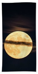 Beach Towel featuring the photograph Supermoon by Michael Nowotny