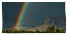 Beach Sheet featuring the photograph Superstition Rainbow  by Saija Lehtonen