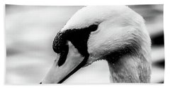 Swan Portrait Beach Towel