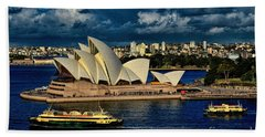 Sydney Opera House Australia Beach Towel by Diana Mary Sharpton