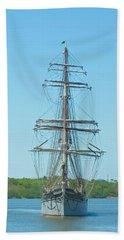 Tall Ship Elissa Beach Towel