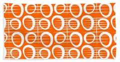 Tangerine Loop Beach Towel