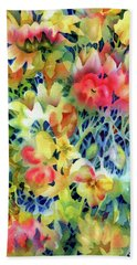 Tangled Blooms Beach Towel