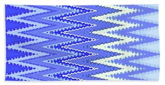 Beach Towel featuring the digital art Tapestry In Blue Two by Ann Johndro-Collins