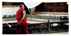 Tashilhunpo Monastery Shigatse Tibet Yantra.lv  Beach Towel