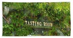 Tasting Room Sign Beach Towel