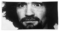 Charles Manson Mug Shot 1969 Vertical  Beach Towel
