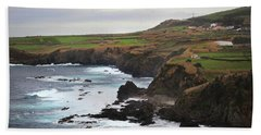 Beach Towel featuring the photograph Terceira Coastline by Kelly Hazel