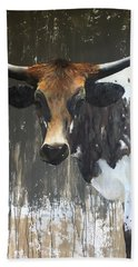 Texas Longhorn Beach Towel