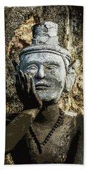 Thai Yoga Statue At Wat Pho  Beach Towel