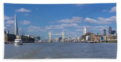 Beach Towel featuring the photograph Thames View by Stewart Marsden