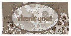 Thank You Card Daisies Beach Sheet