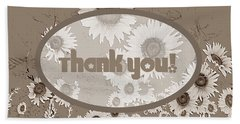 Thank You Card Daisies Beach Towel