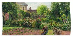 The Artist's Garden At Eragny Beach Towel