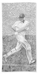 Beach Towel featuring the mixed media The Batsman by Elizabeth Lock