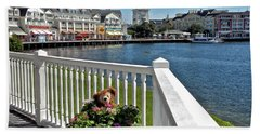The Boardwalk At Walt Disney World Mp Beach Towel