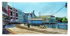 The Boardwalk Sidewalk Walt Disney World Mp Beach Towel