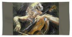 The Cellist Beach Towel