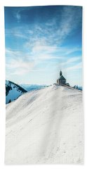 The Chapel In The Alps Beach Towel