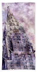 The Chrysler Building Beach Towel by Jon Neidert