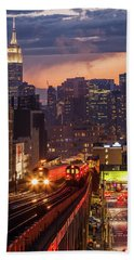 The City That Never Sleeps Beach Sheet by Anthony Fields
