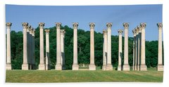 The First Capitol Columns Of The United Beach Towel