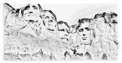 The Four Presidents Beach Towel
