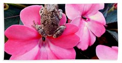 The Frog And The Flower Beach Towel
