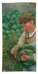 The Gardener - Old Peasant With Cabbage Beach Towel