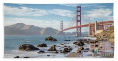 The Golden Gate Beach Towel by JR Photography